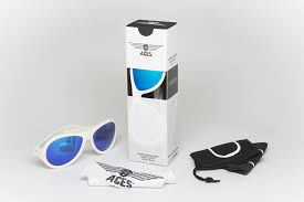 Okulary Babiators Aces - Aviator Wicked White - Blue Lens 7 - 14