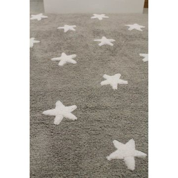 Dywan Lorena Canals, Stars, Grey White