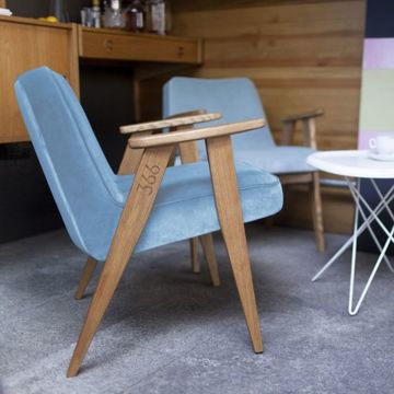Fotel 366 Concept LOFT Collection, Turquoise Oak 02