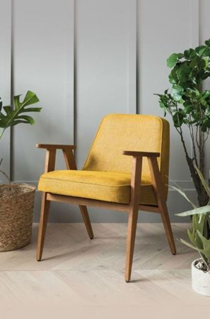 Fotel 366 Concept WOOL Collection, Mustard Oak 03