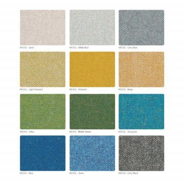 Fotel 366 Concept, wersja Junior, WOOL Collection, White Blue Oak 03