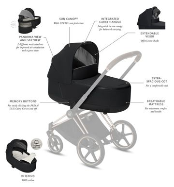 Gondola do wózka Cybex Priam Lux 2.0, Soho Grey