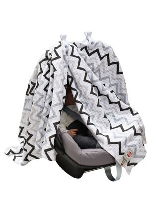 Klipsy do kocyka Lodger - Swaddle Clip White 2 szt.