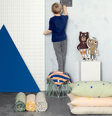 Kocyk Ferm Living Teepee Quilted szary