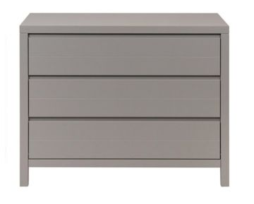 Komoda Quax Stripes, 3 szuflady, Griffin Grey