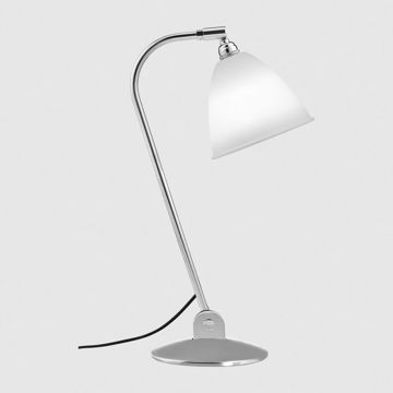 Lampa nablatowa Gubi Bestlite, BL2, Bone China Shade/Chrome