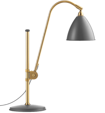 Lampa nablatowa Gubi, model Bestlite BL1, kolor Grey/Brass