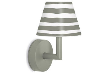 Lampa ścienna Fatboy Add the Wally, Grey