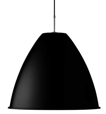Lampa sufitowa Gubi Bestlite, BL9 XL, Black Shade/Chrome