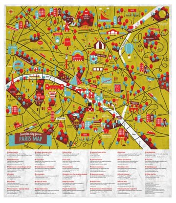 Mapa Palomar Crumpled City Junior Paris