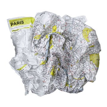 Mapa Palomar Crumpled City TP Paris