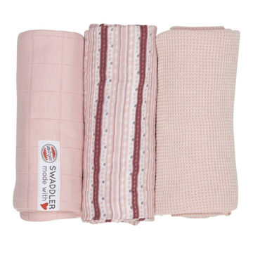 Otulacz Lodger Swaddler Epire muślinowy 3-pack 70x70 cm, Sensitive Stripe