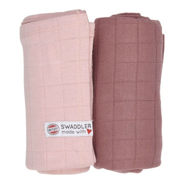 Otulacz Lodger Swaddler Solid muślinowy 2-pack 120x120 cm, Sensitive/Plush