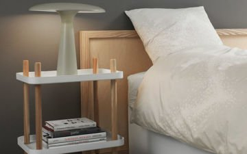 Stolik na kółkach Normann Copenhagen Block Light Grey