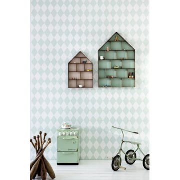 Tapeta Ferm Living Harlequin Mint