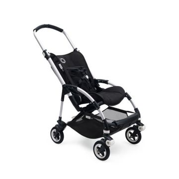 Wózek spacerowy Bugaboo Bee5 BLACK+/STEEL BLUE z budką BIRDS