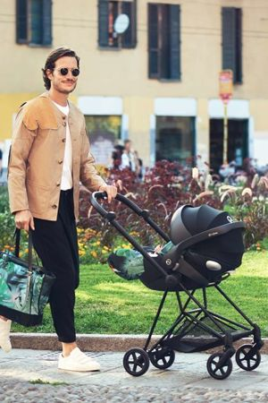 Wózek spacerowy Cybex Mios Birds of Paradise na stelażu Rose Gold