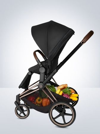 Wózek spacerowy Cybex Priam by Karolina Kurkova na stelażu Chrome Brown z siedziskiem LUX